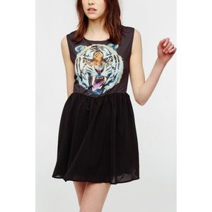 Urban Outfitters Reverse Tiger Skater Dress